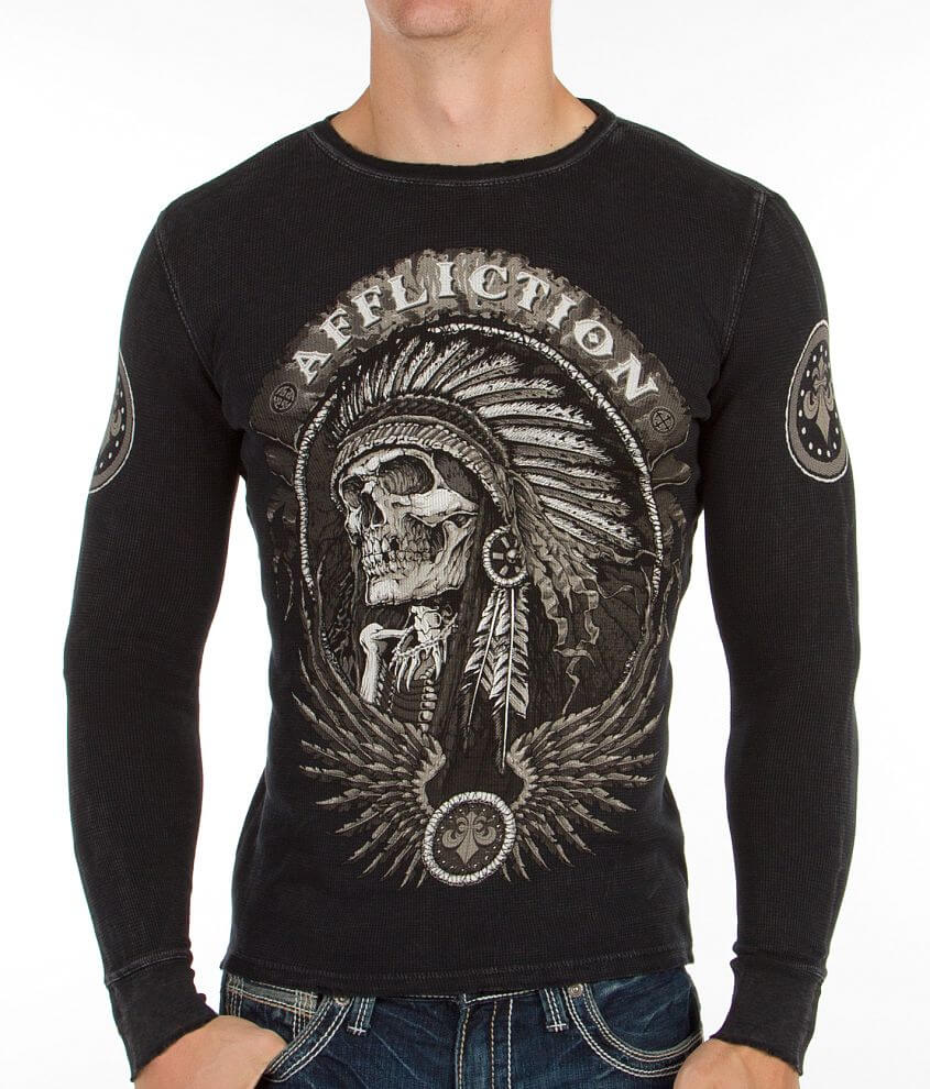 Affliction Thunderfoot Thermal Shirt front view