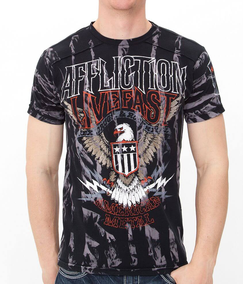 Affliction American Metal Sweet Home T-Shirt front view