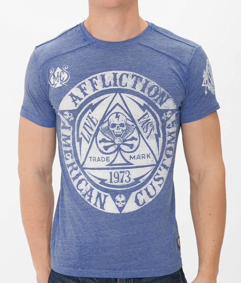 Affliction American Customs Engineered T-Shirt front view