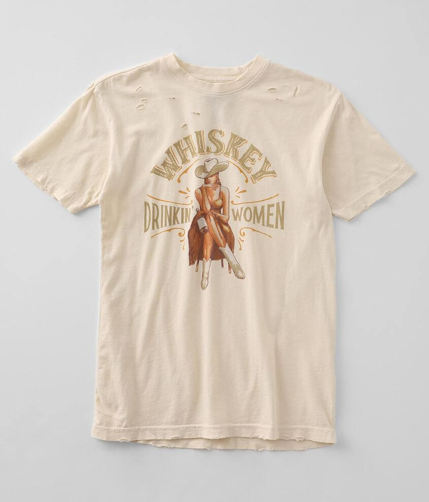 American Highway Whiskey Drinkin' Women T-Shirt front view