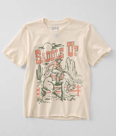 American Highway Saddle Up Girl T-Shirt