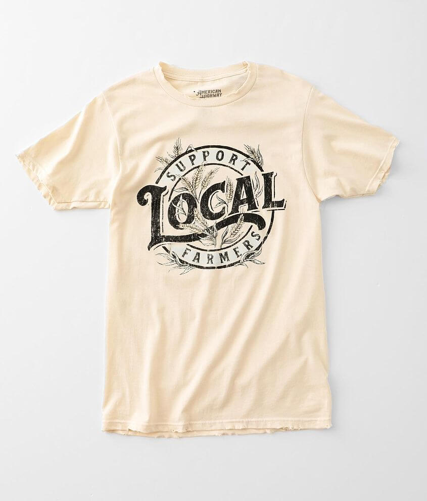 American Highway Support Local Farmers T-Shirt front view