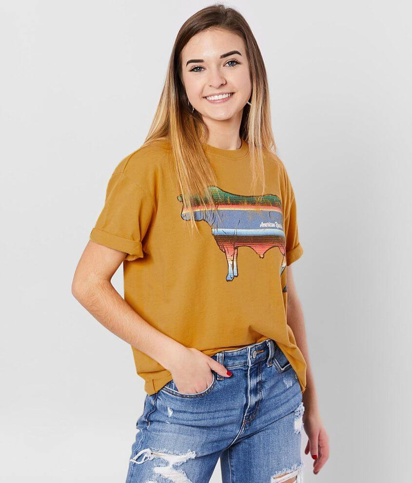 American Highway Rancher Cow T-Shirt front view