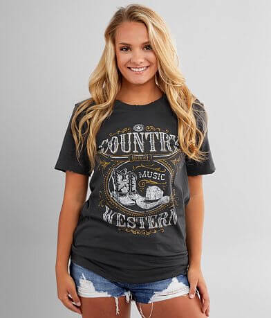 American Highway Country Western T-Shirt