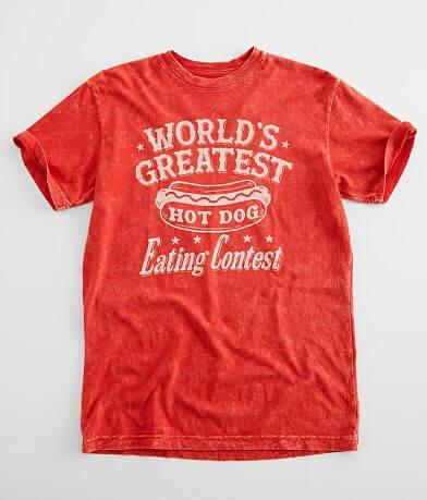 American Highway Hotdog Eating Contest T-Shirt