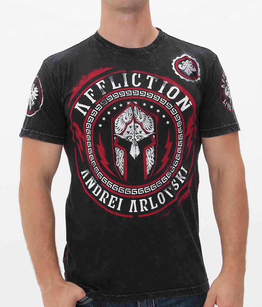 Affliction Arlovski Spartan T-Shirt front view