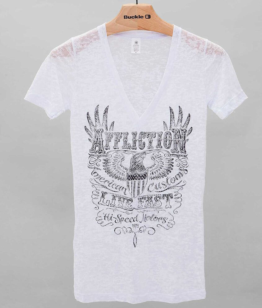 Affliction American Customs Motorworks T-Shirt front view