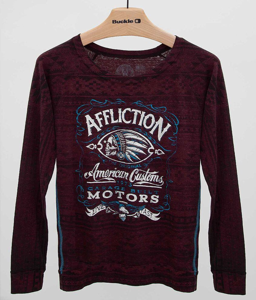 Affliction Prohibition Thermal Top front view