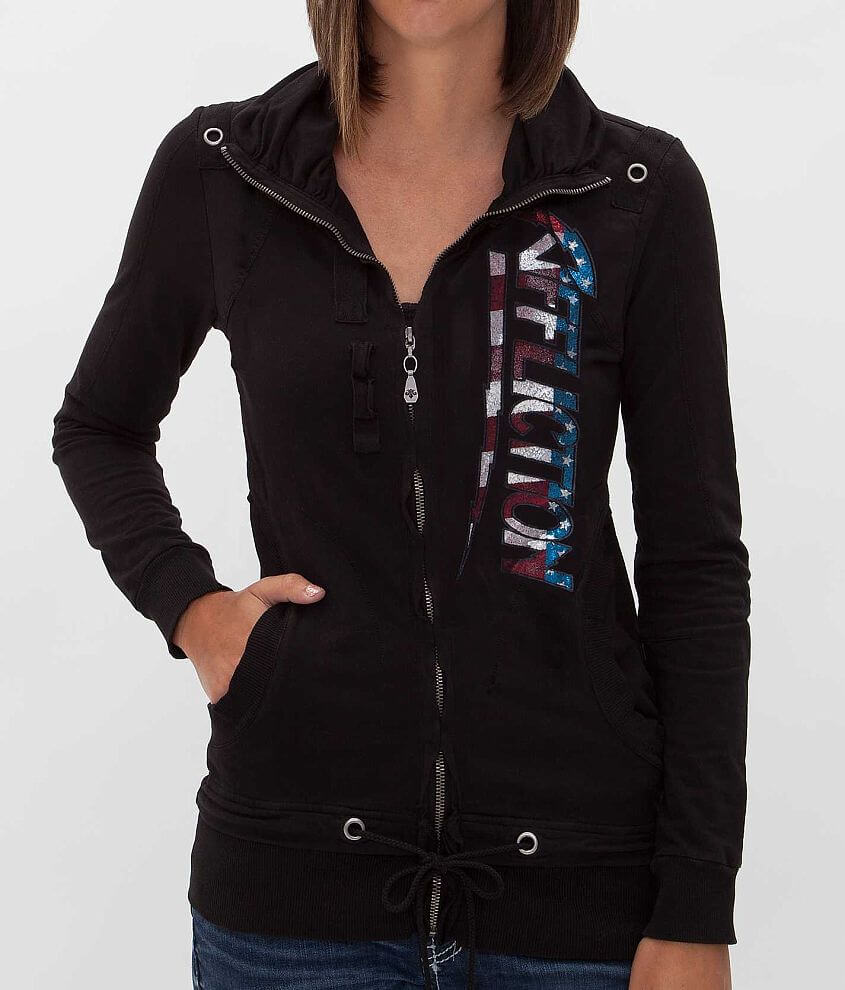 Affliction American Metal French Terry Sweatshirt front view