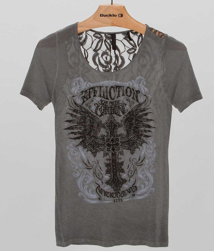 Affliction Black Premium Elitist T-Shirt front view