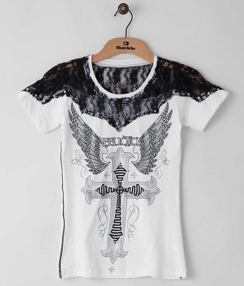 Affliction Sacred Cross T-Shirt front view