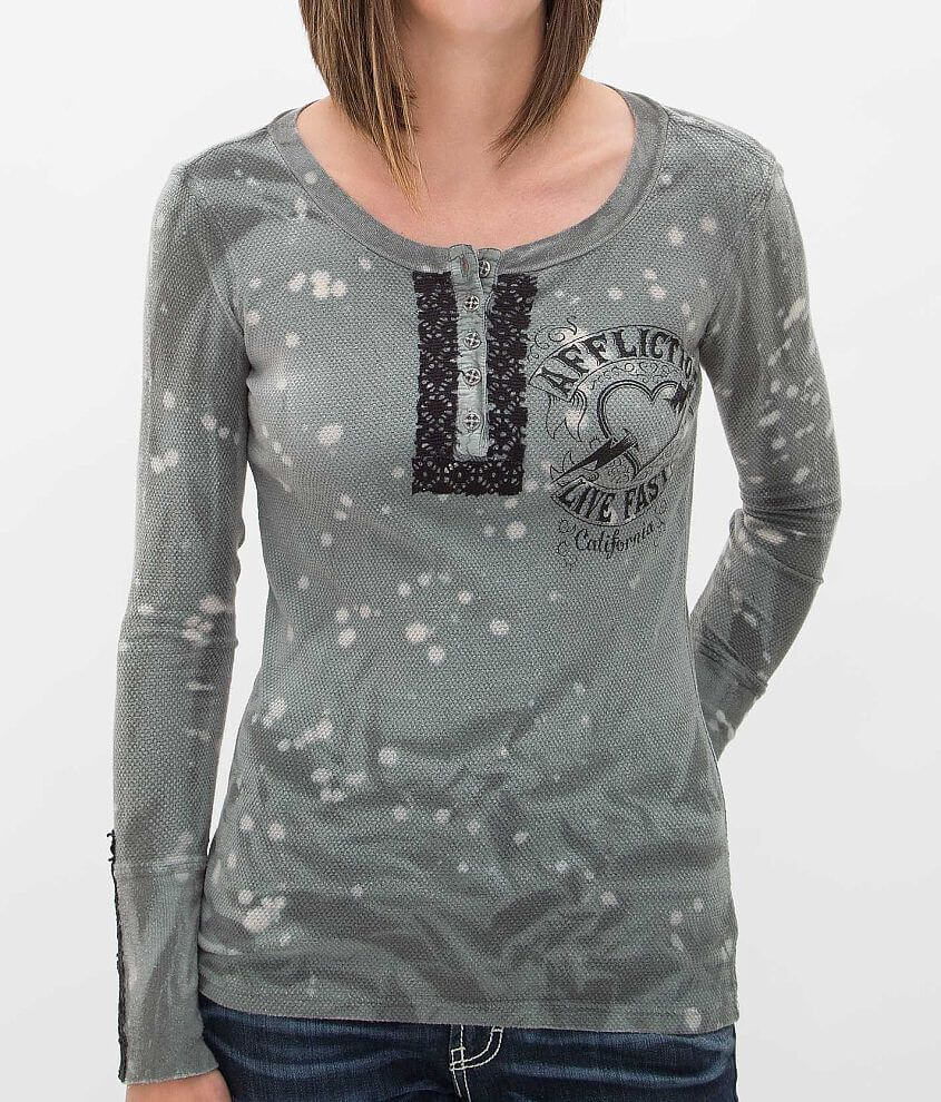 Affliction American Customs Marshall Thermal Top front view