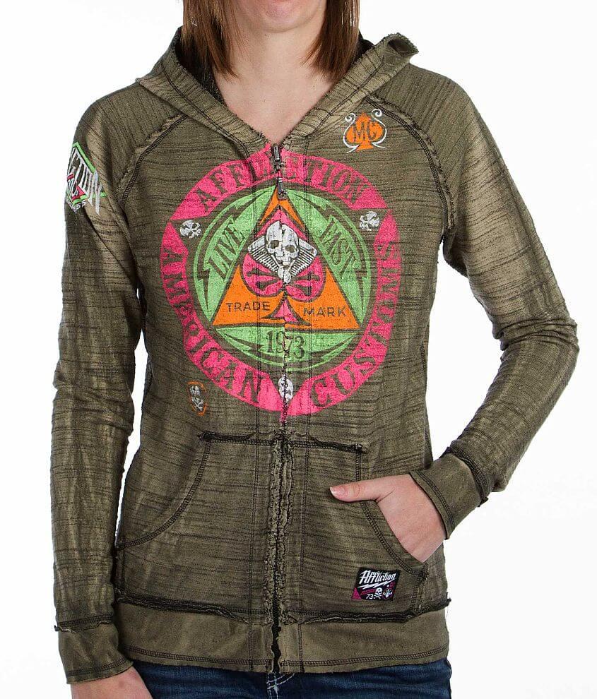 Affliction Engineered Reversible Sweatshirt front view