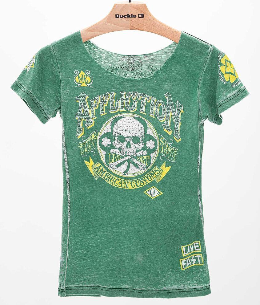 Affliction American Customs Saint Patrick T-Shirt front view