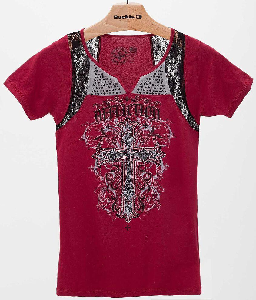 Affliction Jasmine T-Shirt front view