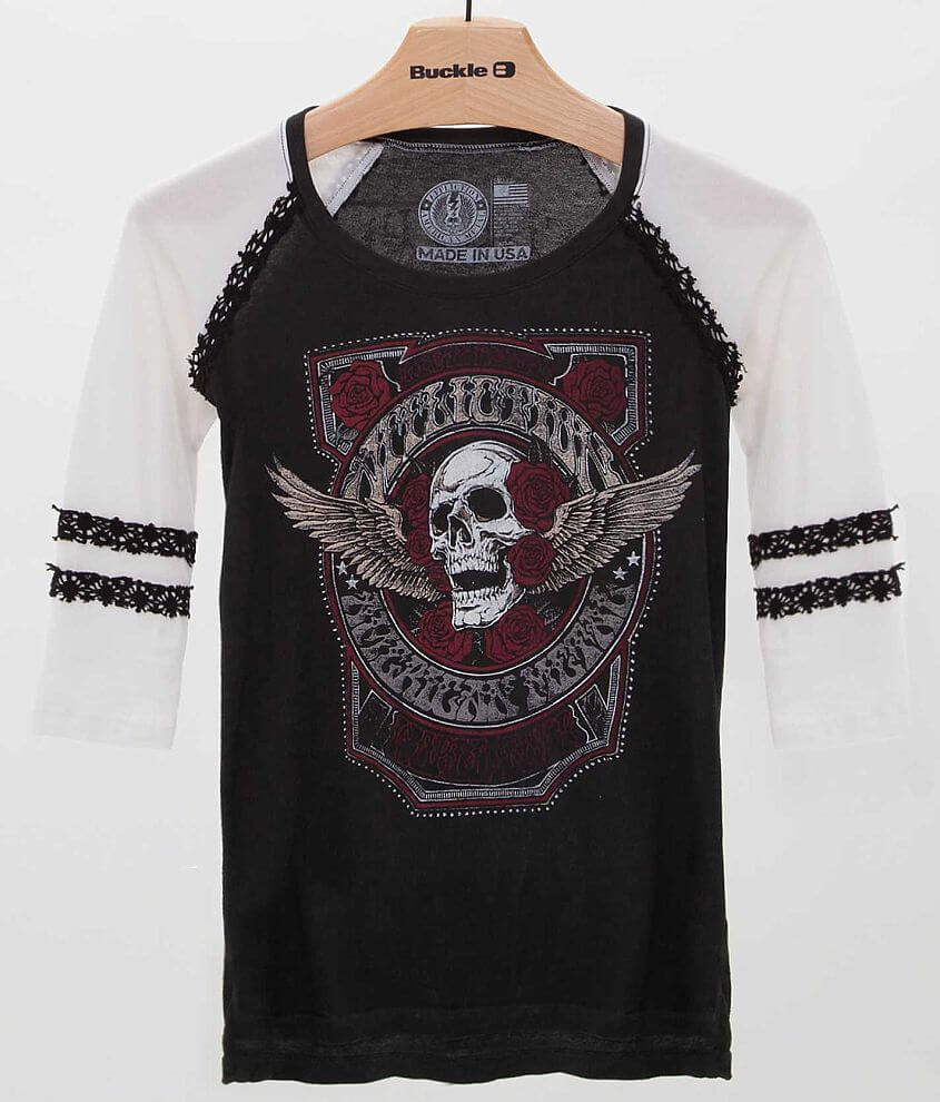 Affliction American Metal Tour T-Shirt front view