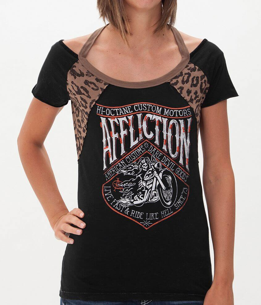 Affliction American Customs Sidecar T-Shirt front view