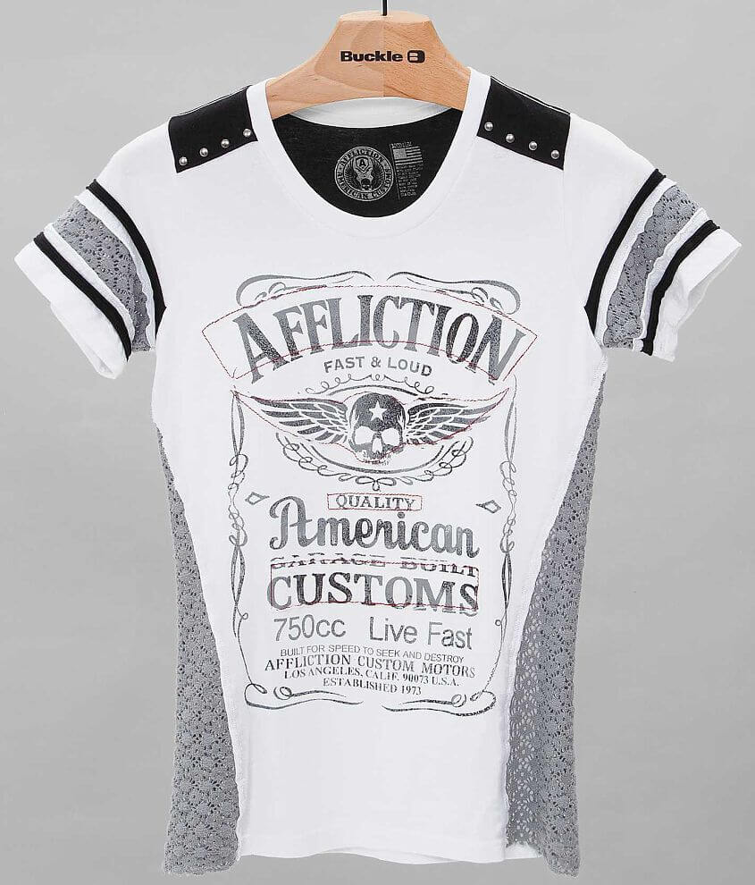 Affliction American Customs Lynchburg T-Shirt front view