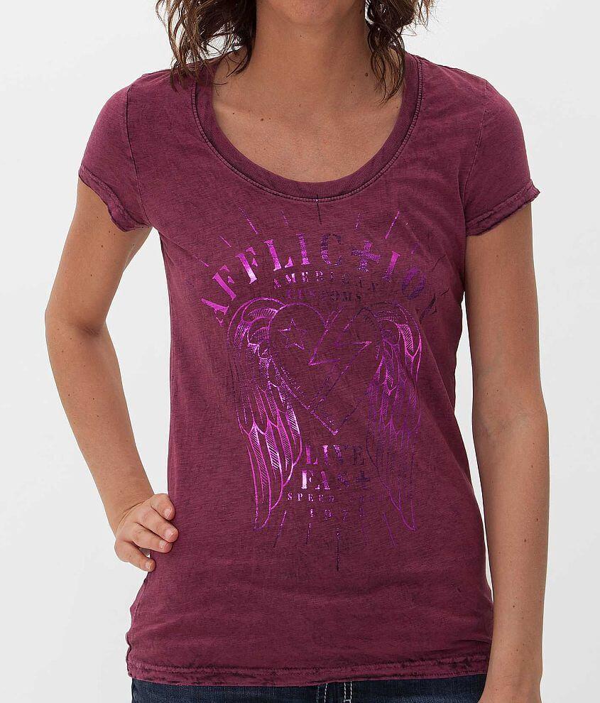 Affliction Speeder Reversible T-Shirt front view
