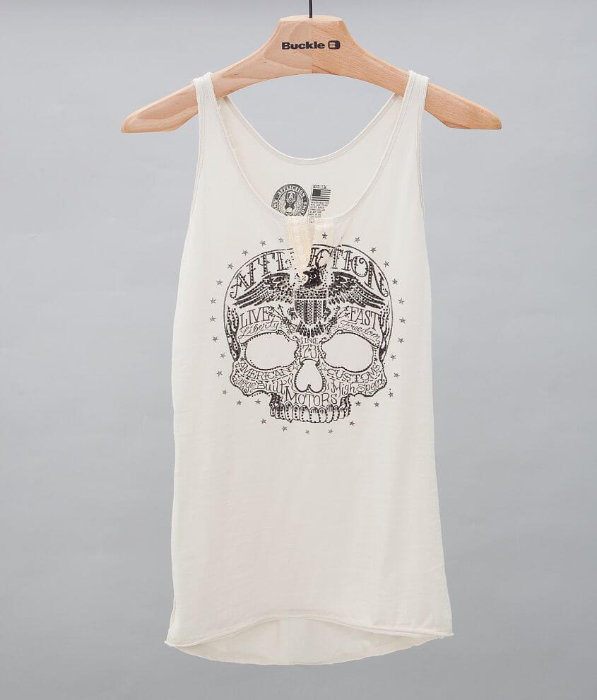 Affliction Dead Head Notch Tank Top front view