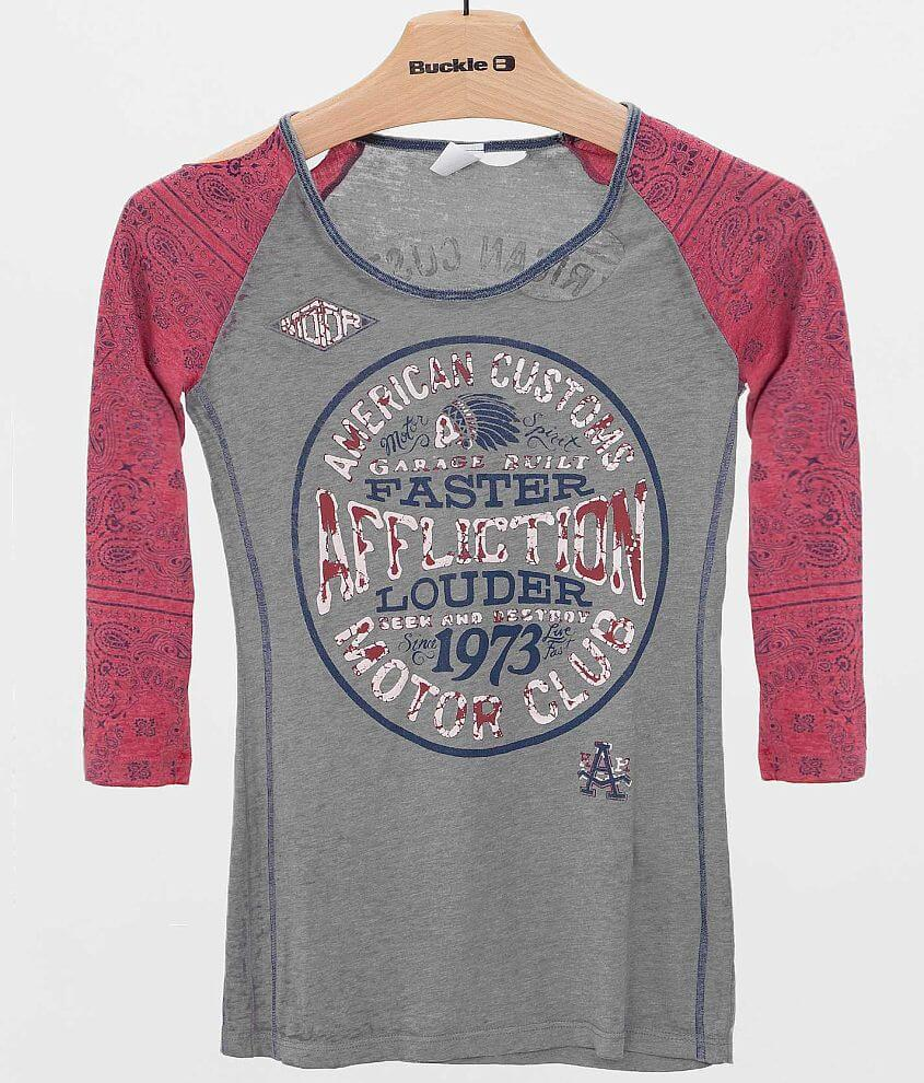 Affliction American Customs Petrol T-Shirt front view