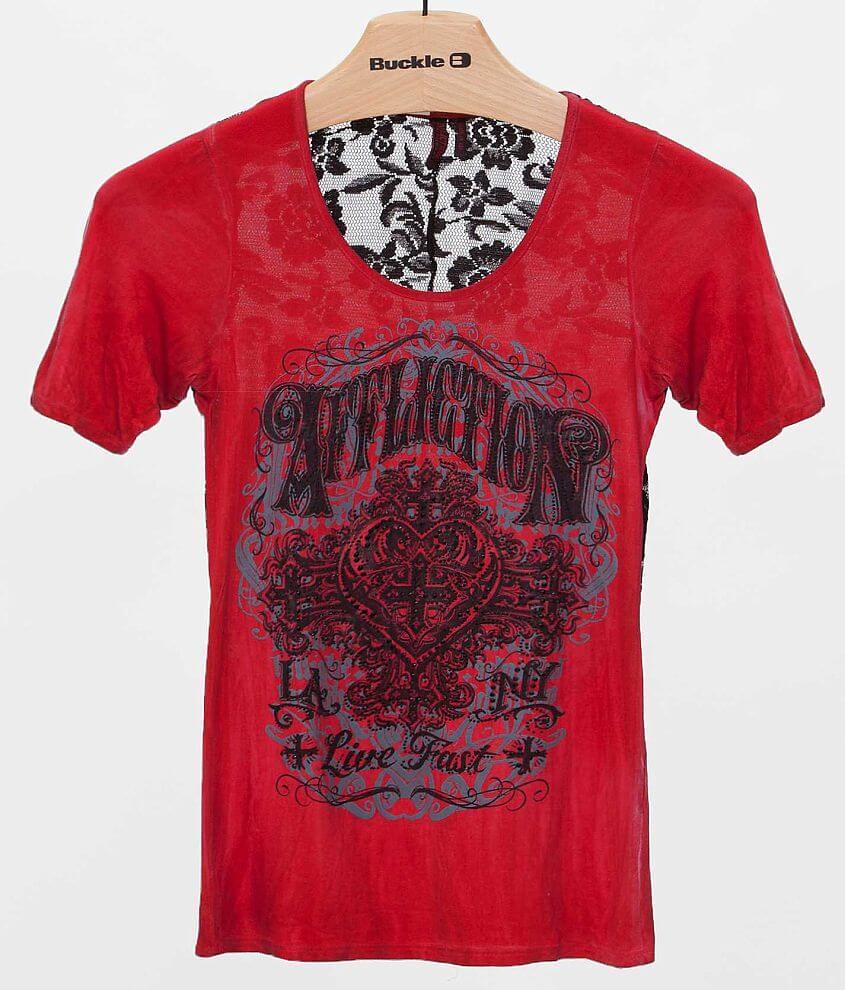 Affliction Black Premium Ink T-Shirt front view