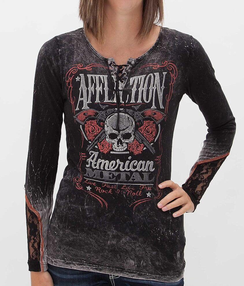 Affliction American Metal Bottle Service T-Shirt front view