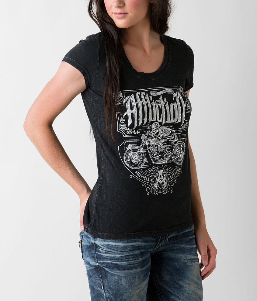 Affliction American Customs Death Rider T-Shirt front view