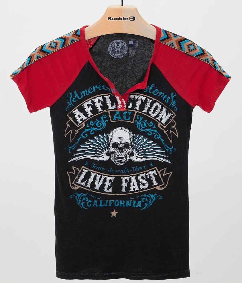 Affliction American Customs Crusaders T-Shirt front view