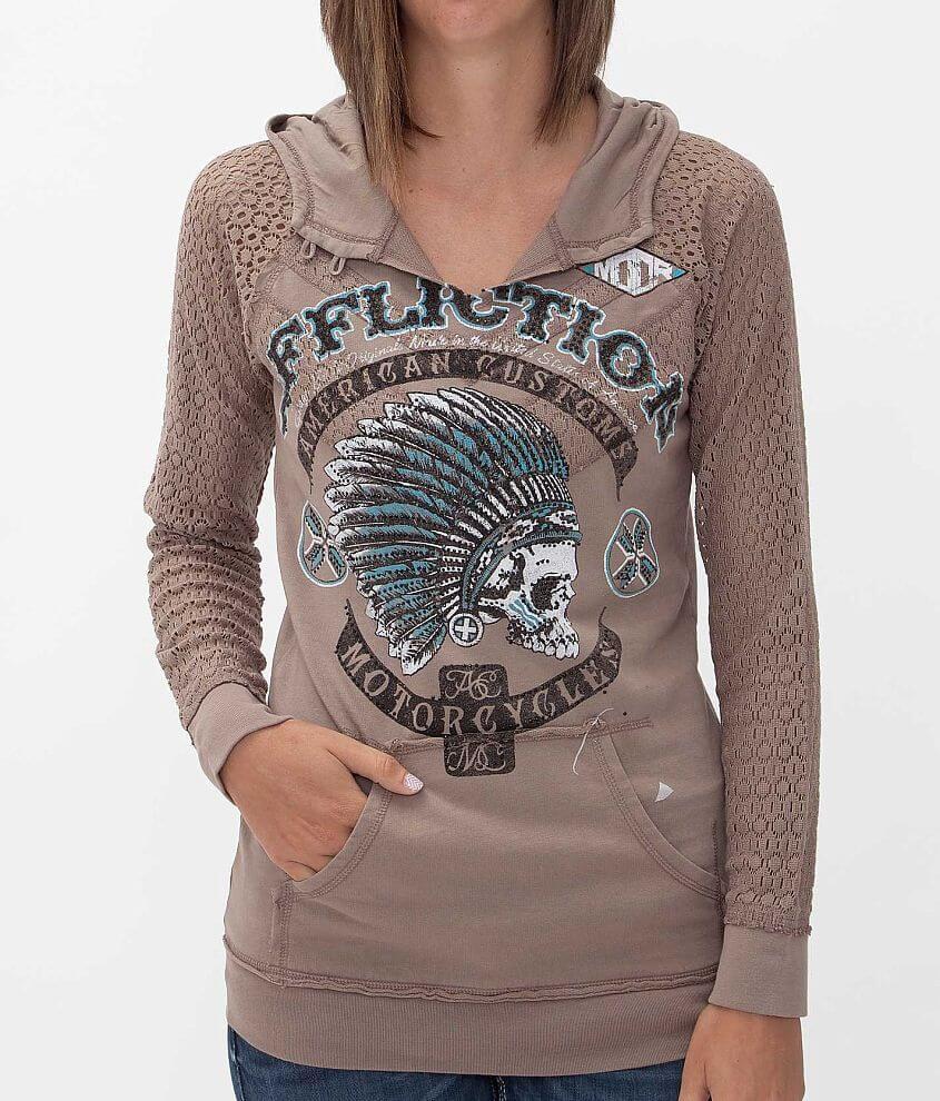 Affliction American Customs Arrow Sweatshirt front view