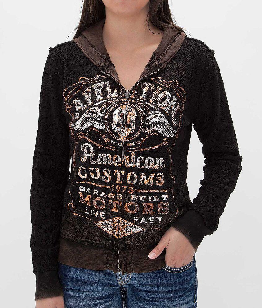 Affliction American Customs Barrel Aged Sweatshirt front view