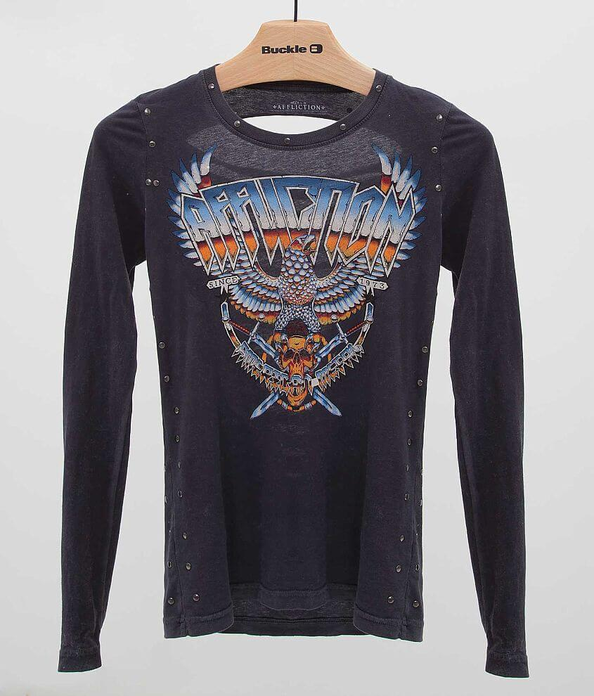 Affliction American Metal Storm T-Shirt front view