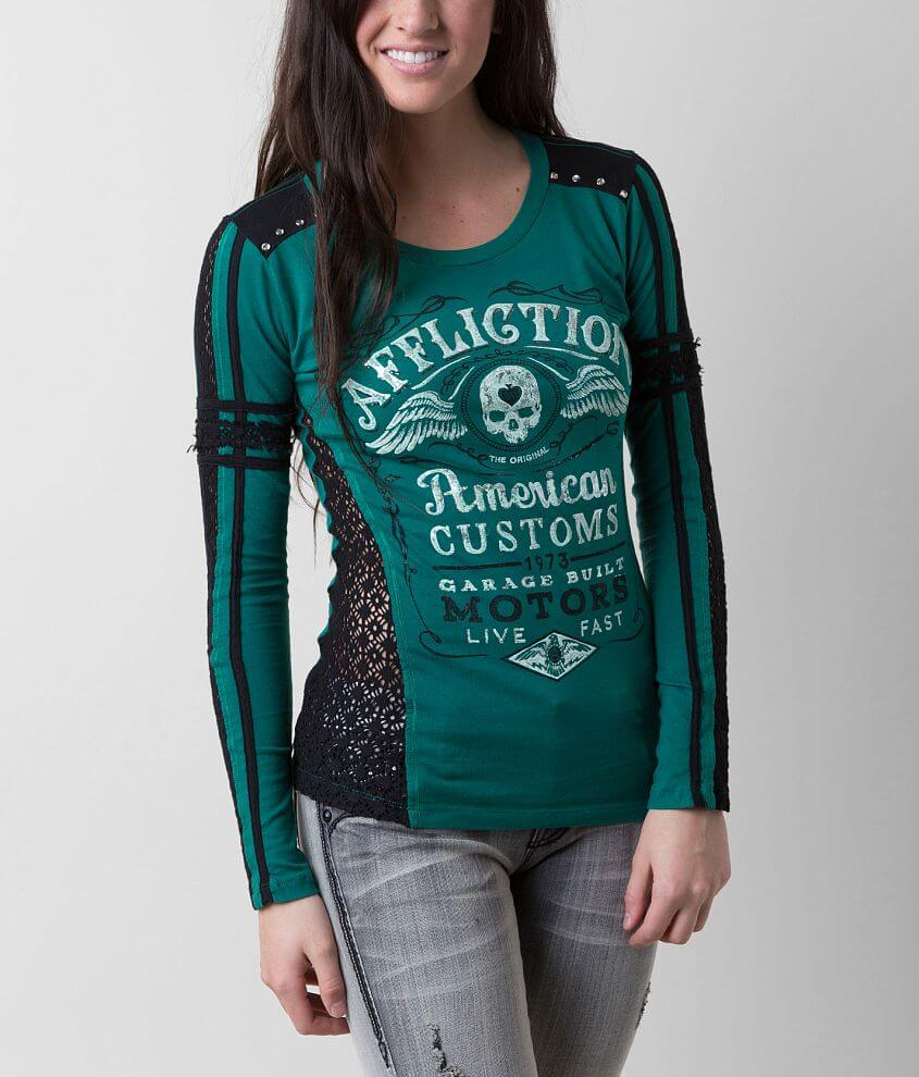 Affliction American Customs Barrel Aged T-Shirt front view