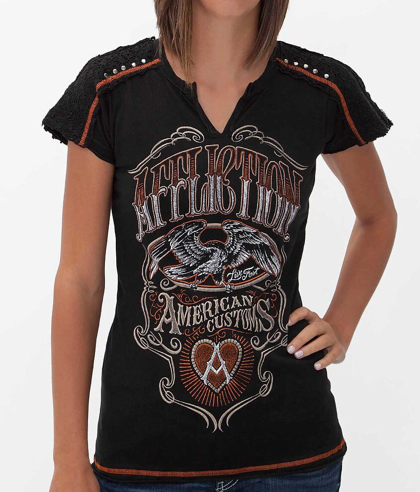 Affliction American Customs Cask Strength T-Shirt front view
