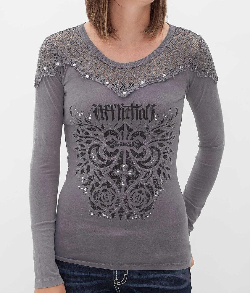Affliction Sauvignon T-Shirt front view