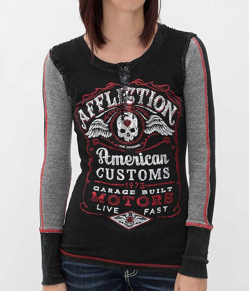 Affliction Barrel Aged Thermal Top front view