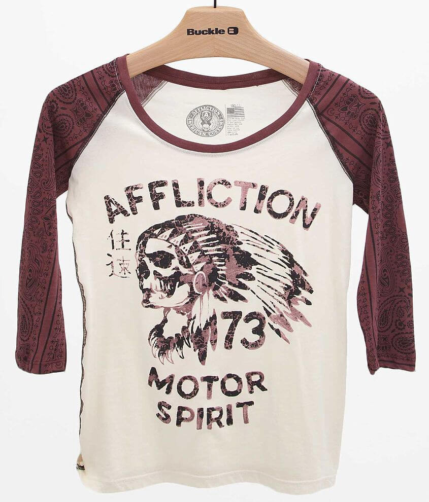 Affliction American Customs No Luck T-Shirt front view