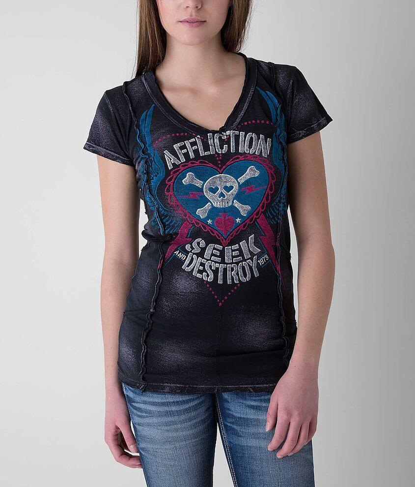 Affliction Backfire T-Shirt front view