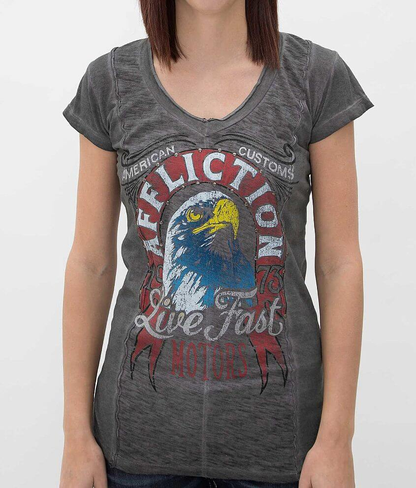 Affliction American Customs Majestic T-Shirt front view