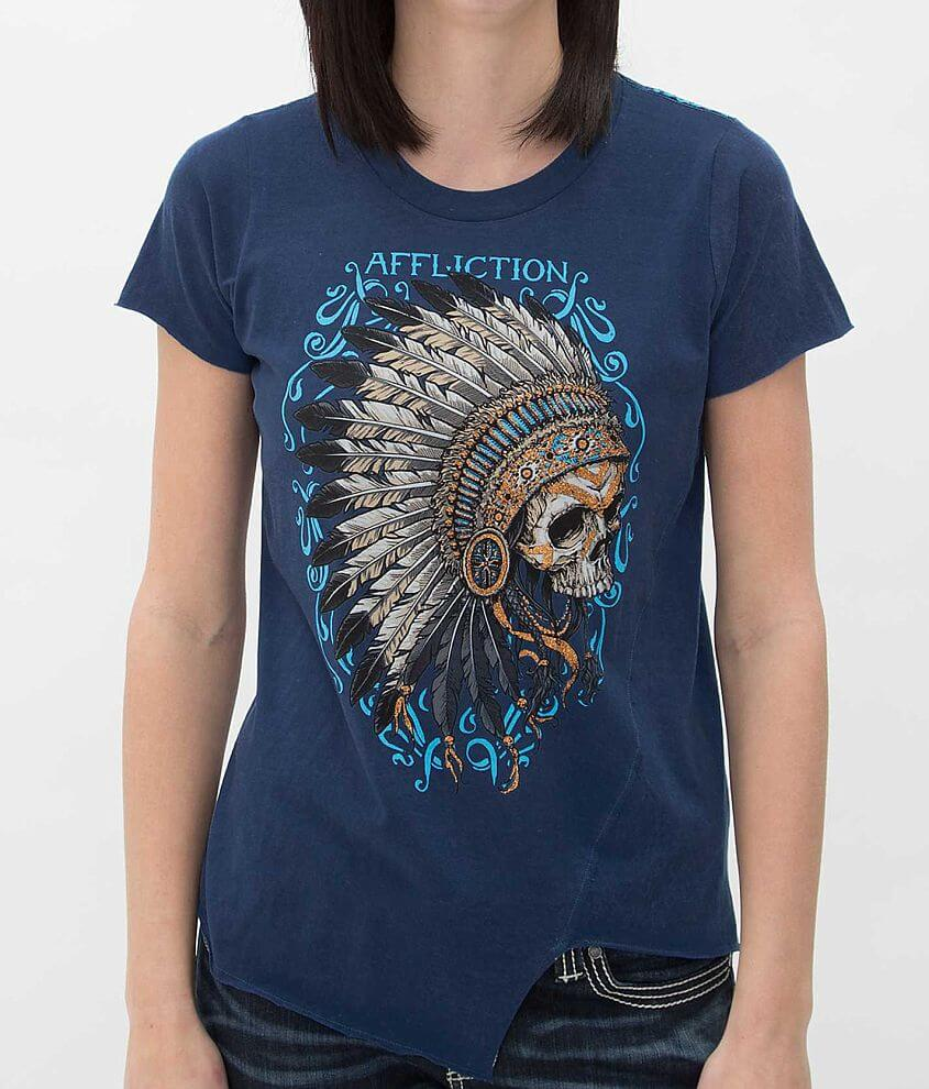 Affliction Skull T-Shirt front view