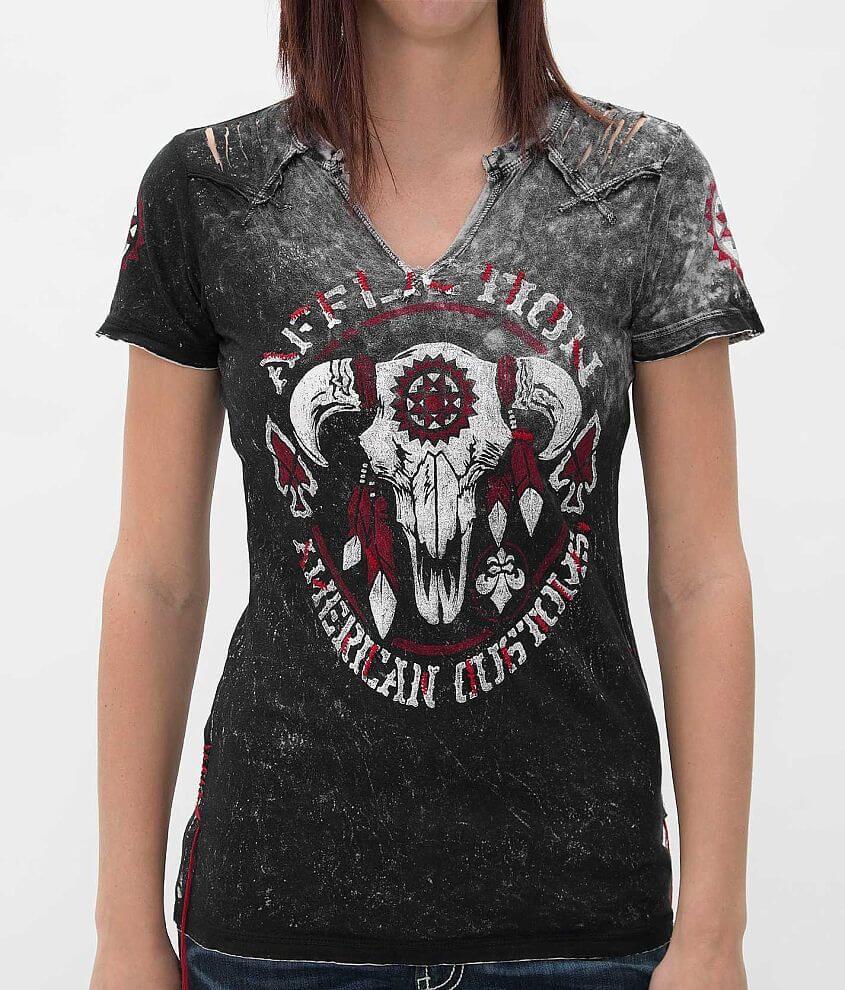 Affliction Tatanka Western T-Shirt front view