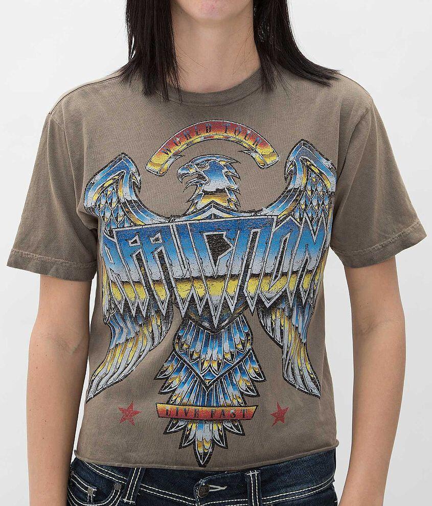 Affliction American Metal Liquid Metal T-Shirt front view