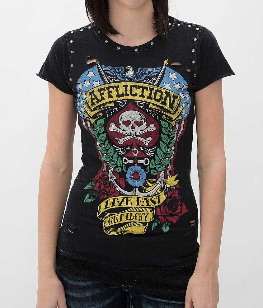 Affliction American Customs Lucky T-Shirt front view
