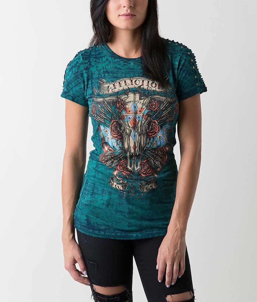 Affliction American Customs Little Bighorn T-Shirt front view