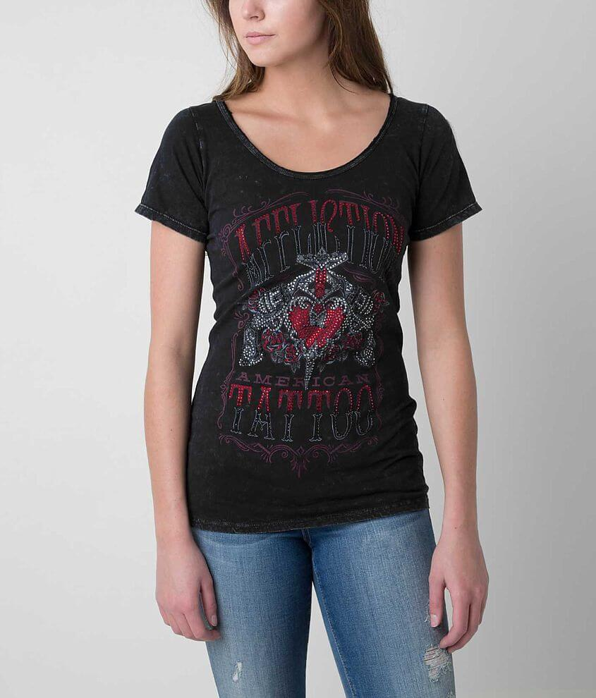Affliction Inked Guns on Parade T-Shirt front view