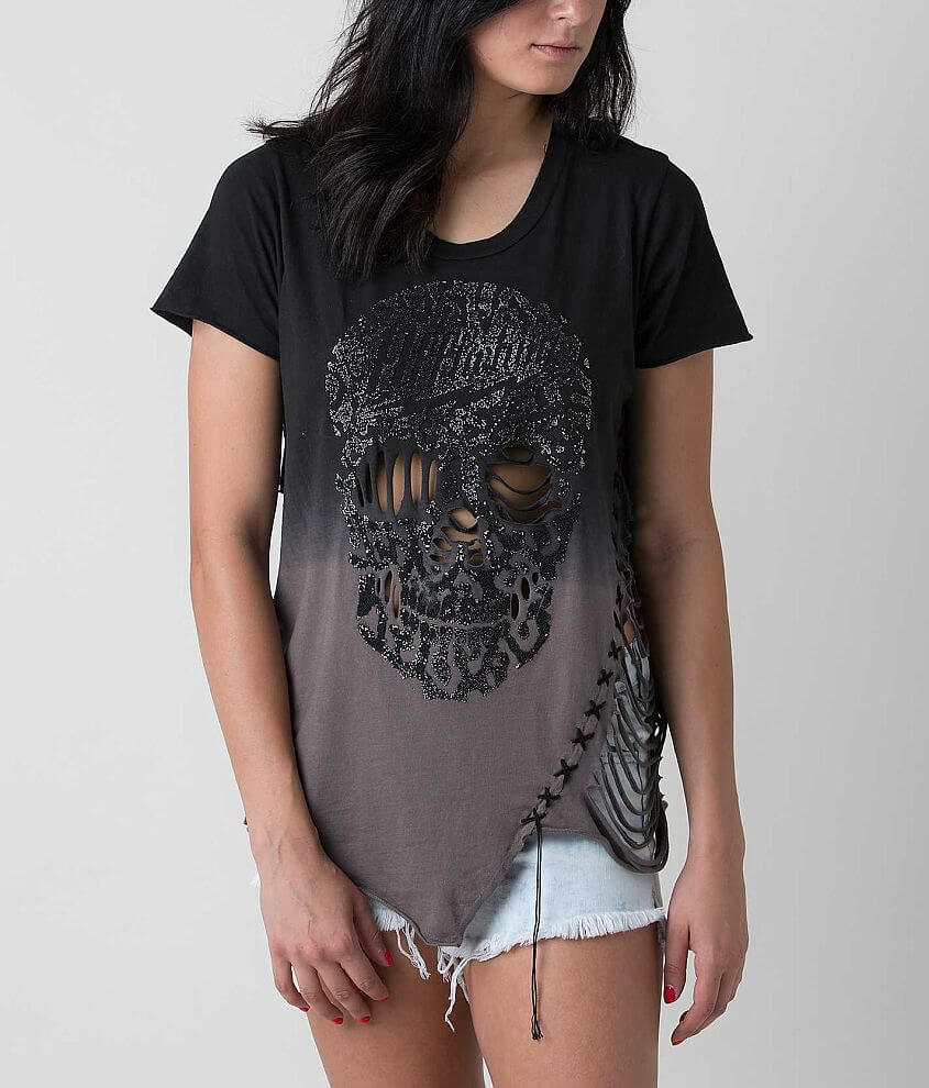 Affliction Rock N Skull T-Shirt front view