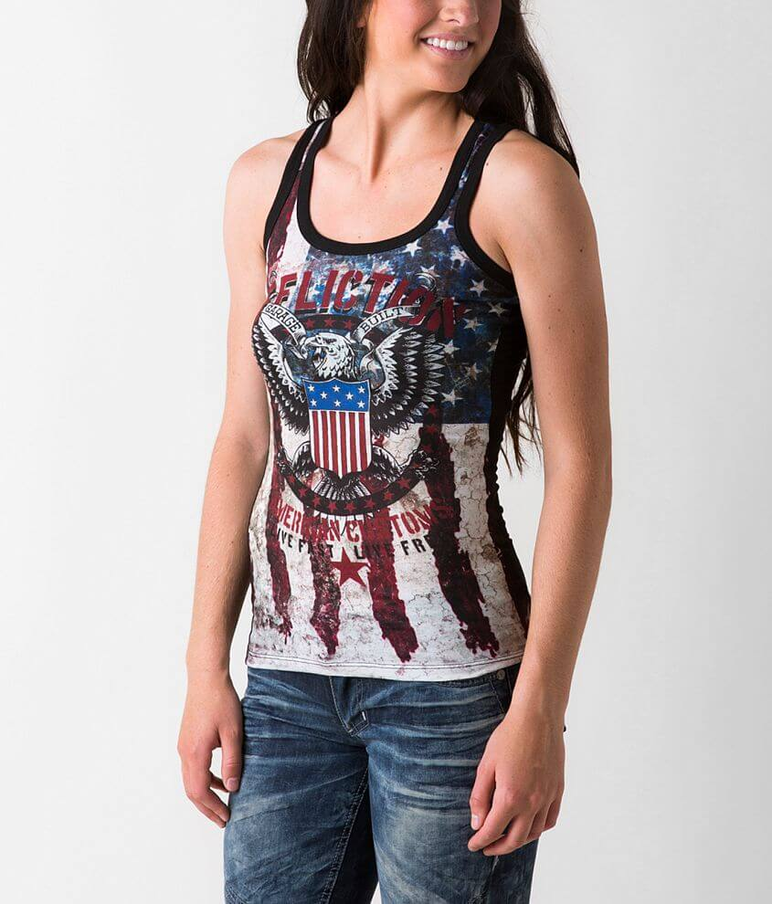 Affliction American Customs Eagle Clutch Tank Top front view