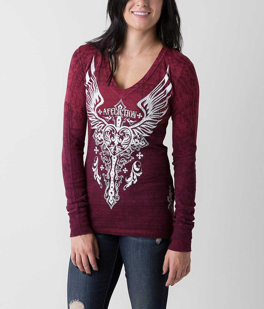 Affliction Montreaux Thermal Top front view