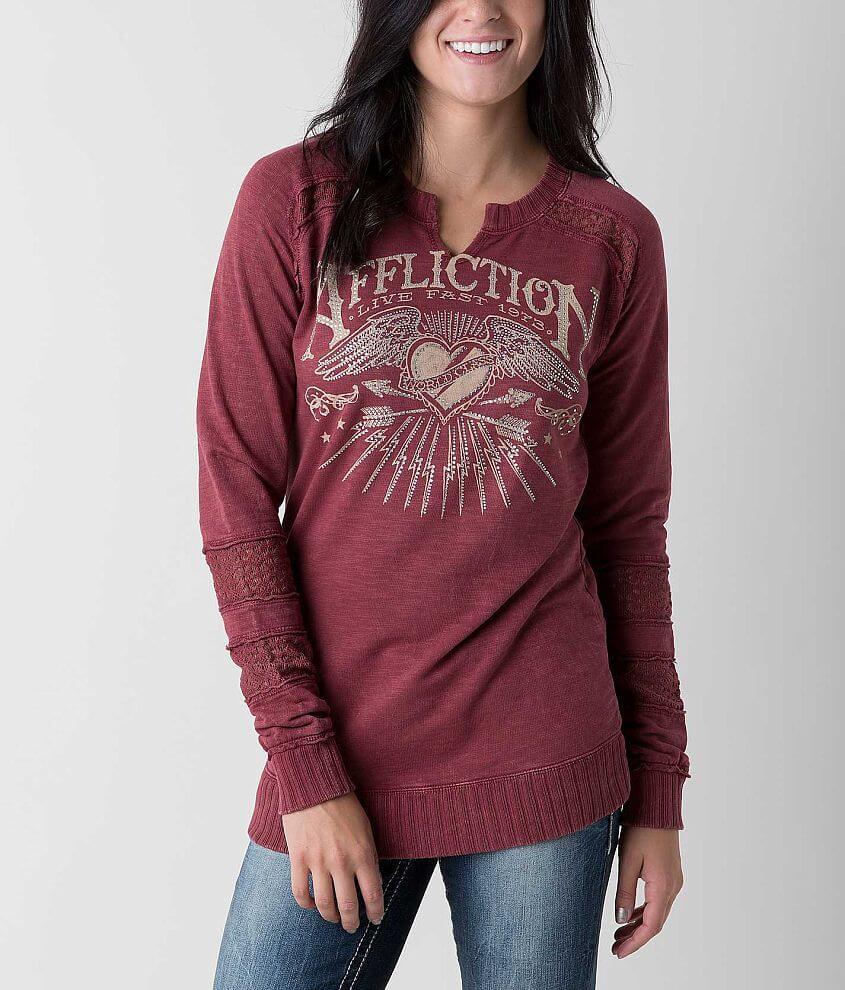 Affliction American Heartbreak Sweatshirt front view