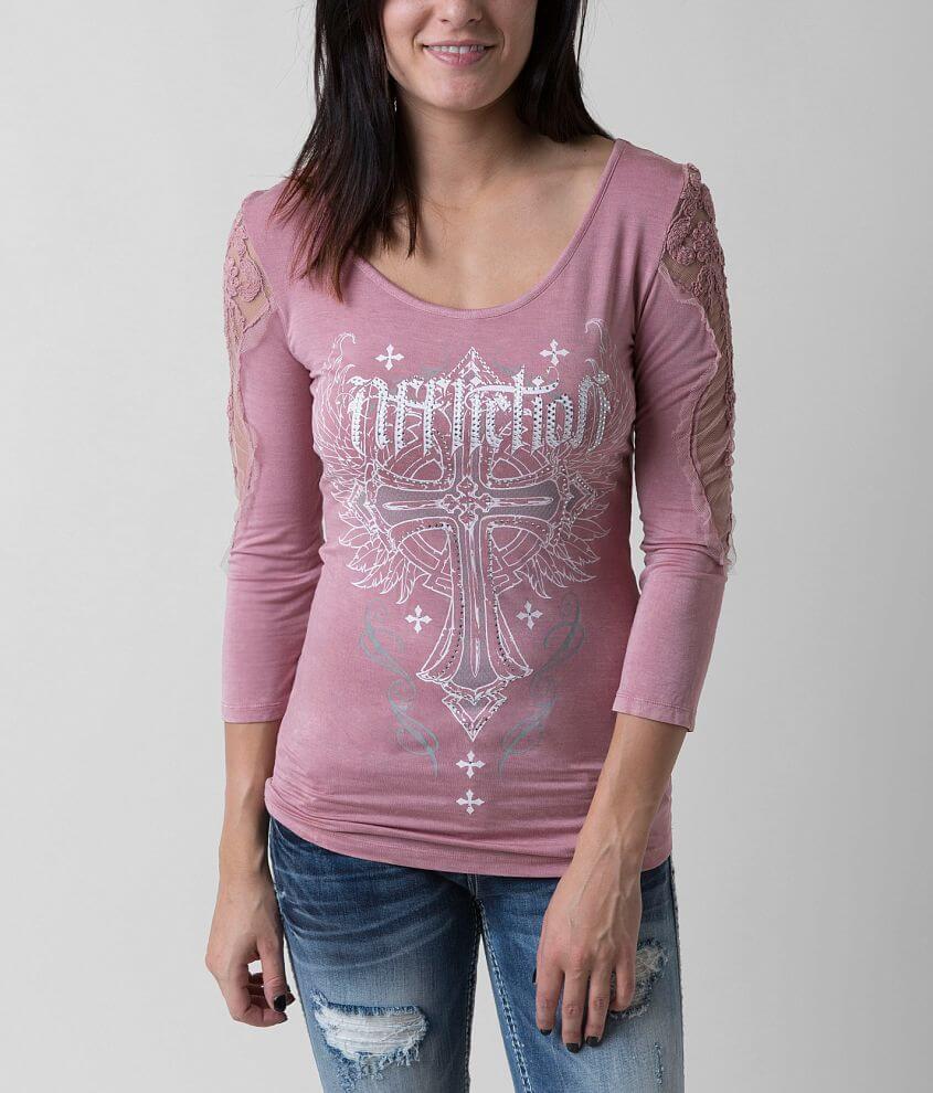 Affliction Cashmere T-Shirt front view